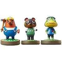 Mr. Resetti - Tom Nook - Kapp'n - Amiibo (Animal Crossing Series) for Nintendo Switch - WiiU, 3DS 3 Pack (Bulk Packaging…