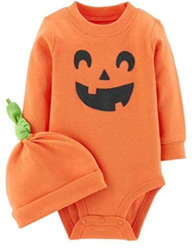 Calabaza Halloween Disfraz (Carter's 2-Piece Pumpkin Hat and Collectible Bodysuit 12)