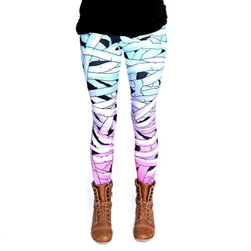 cosey - Printed Colorful Halloween Leggings (one Size) - Design Mummy for $<!--$14.90-->