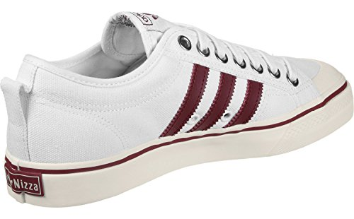 Mixte Blanc adidas Rouge Nizza Weiß Adulte Baskets OEwvqw4
