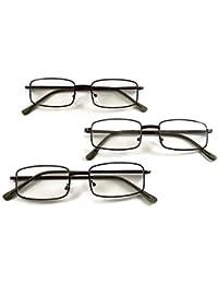 [Patrocinado] metal anteojos de lectura – 3 Par de Cheaters, 3