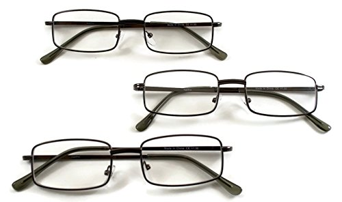 SightPros Metal Reading Glasses - 3 pair of - Mujer De Lentes