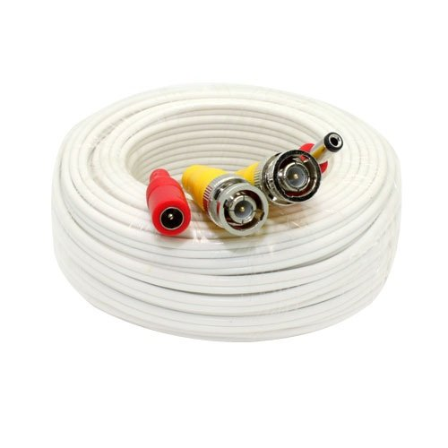 GW Security Inc GW60CAW GW60CAWLTS LTAC2060W 60-Foot All-in-One BNC Video and Power Cable with Connectors (White)