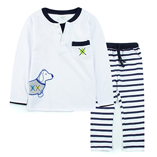 [Neighbor Girl Children's Baby Cartoon Dog sweatshirts 2pcs Set 100% Cotton (1.5-6 Year)] (Witch Coustumes)