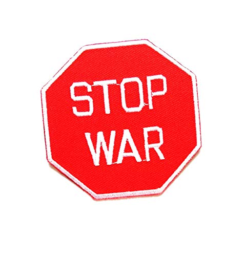 Nipitshop Patches Stop WAR Funny Words Patch Funny