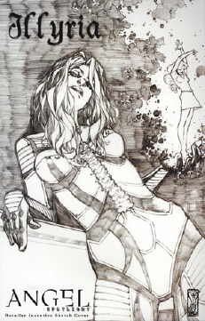 Angel Spotlight Illyria Comic Book One Shot Retailer Incentive Sketch Cover