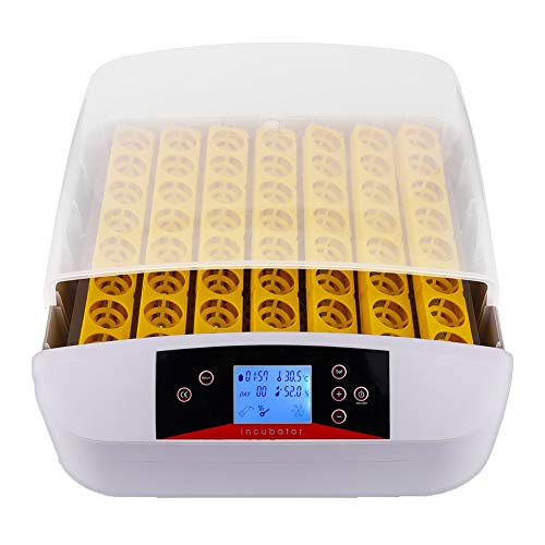 WLDOCA Digital Fully Automatic Egg Incubator,Egg Turning Temperature Control,48 Eggs Poultry Hatcher for Chickens Ducks Goose Birds