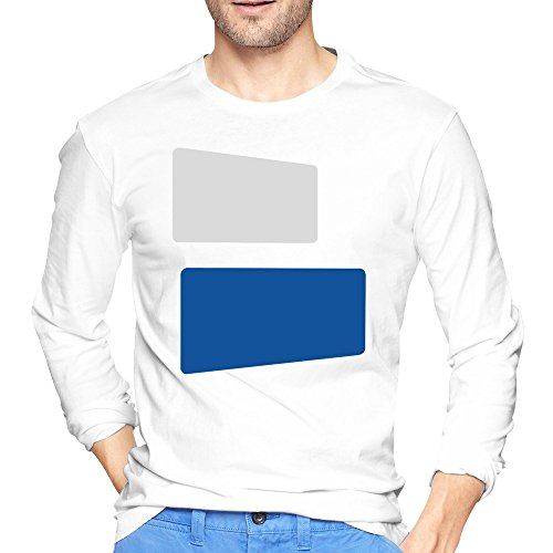 LaviV Men's Duke Blue Devils Color Lumps Symbol Logo T-shirts White Long Sleeves