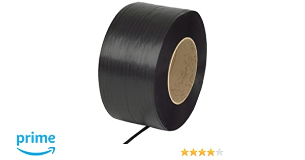 12,900 length PAC Strapping 38M.25.3112  3//8 Machine Grade Black Polypropylene Strapping