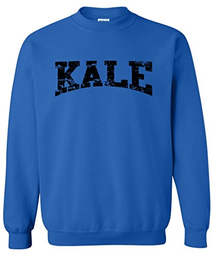 Adult-Kale-Vegan-Vegetarian-Black-Crewneck-Sweater