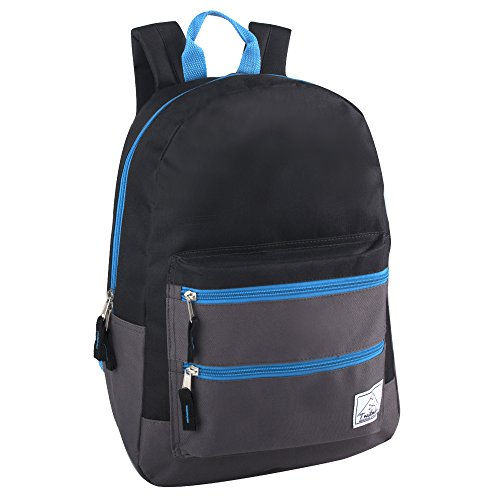 Trailmaker Multi-Color Backpack For Boys & Men With Padded Straps (Black)