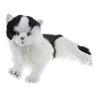 "Bocchetta Plush Toys Cat Kitten Soft Plush Toy 13""/33cm Woodrow Black & White: Toys & Games"