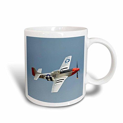 3dRose P-51D Mustang Fighter WWII War Plane US50 BFR0014 Bernard Friel Ceramic Mug, (P-51d Mustang Pictures)