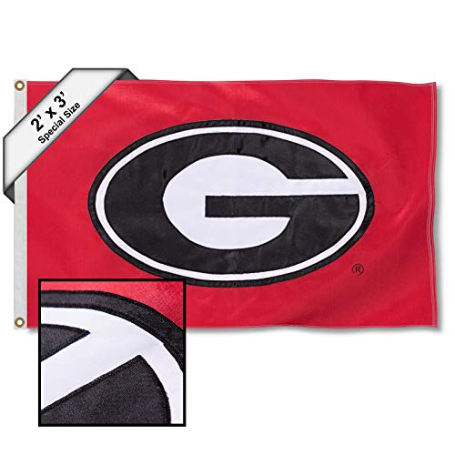 College Flags and Banners Co. Georgia Bulldogs 2x3 Foot Embroidered ()