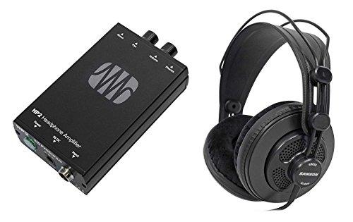 Presonus HP2 2 Channel Headphone Amplifier System HP-2+Free Samson Headphones by PreSonus
