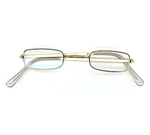 Christmas Santa RECTANGULAR SQUARE Wire Rim Adult Eye Glasses Costume Accessory