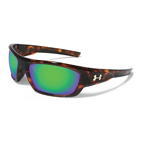 Under Armour Force Storm 8630086-960126 Polarized Rectangular Sunglasses, Shiny Crystal Tortoise/Black, 61 - Force Sunglasses