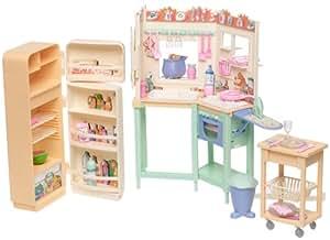 Barbie all around home kitchen playset 2000 for Kitchen set toys amazon