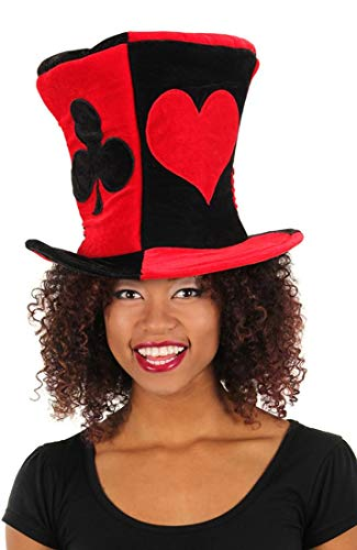 elope Red and Black Ace Madhatter Hat