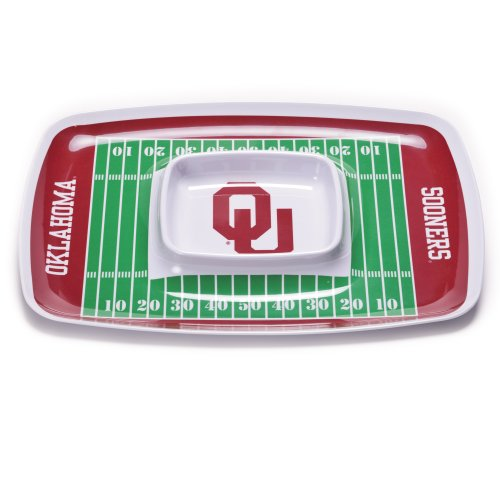 NCAA Oklahoma Sooners Melamine Chip and Dip Tray