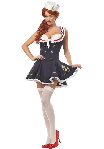 California Costumes Women's Nautical Doll (Sailor Costume For Women)