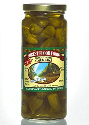 Amazon Com Forest Floor Foods Bloody Mary Gherkins 16