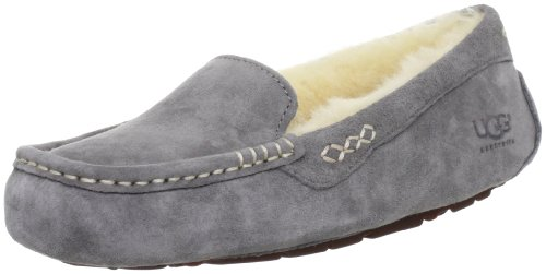 UGG Women's Ansley Moccasin, Light Grey, 9 B US (Womans Ugg Slippers Size 9)