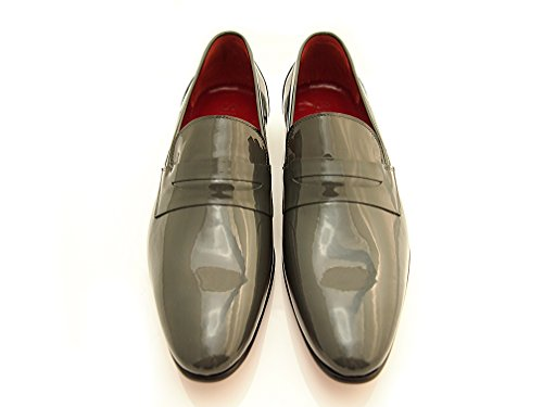 Sir Men's Leather Dress Shoes - Cassidy Black Slip-On Leather Loafers