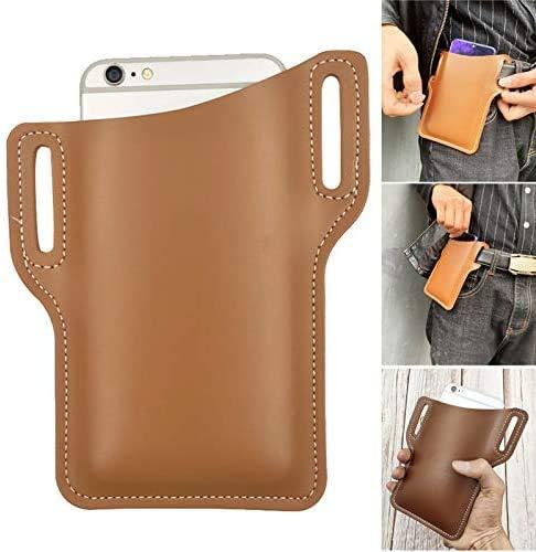 Belt Hip Wallet Carrying Case for Cellphone,Mini Travel Messager Pouch Pack Purse Wallet for men (Dark blue)