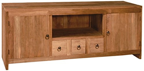 NES Furniture NES Fine Handcrafted Furniture Solid Teak Wood Jimmy TV Stand/Console Table - 63