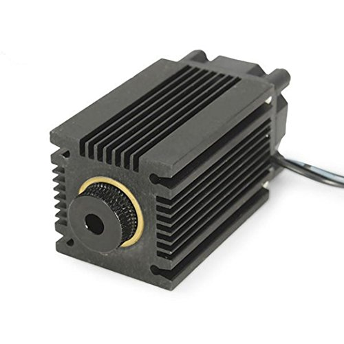 Qisc 445nm 2.5W 2500mW Blue Laser Module With Heatsink For DIY Laser Cutter Engraver
