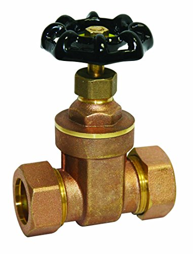 Everflow Supplies 205P012-NL C X C Brass Gate Valve 1/2 Inch-Lead Free
