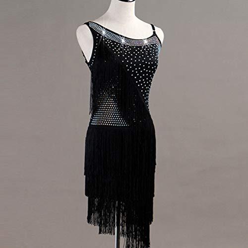 Pour Performance Robe Vêtements Costume Danse Adultes Latine Sans Black Cha Manches Les Wqwlf xxl De Femmes Zumba Nu Dos Concours x16w6YCq