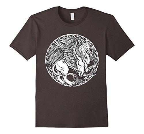 - Mens Color Me Celtic Griffin DIY Coloring T-shirt 2XL Asphalt