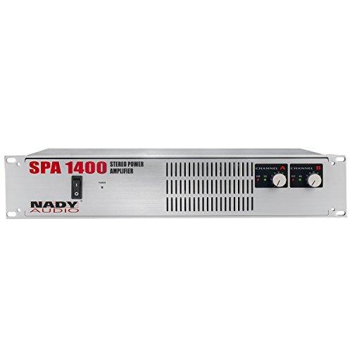 """Nady SPA-1400 - 1,400 Watt Professional Power Amplifier, XLR, 1/4"""" TRS and Speakon inputs"""
