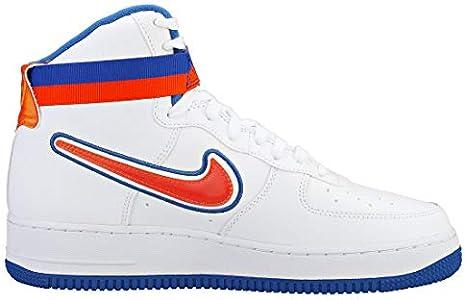 nike air force 1 high orange and white