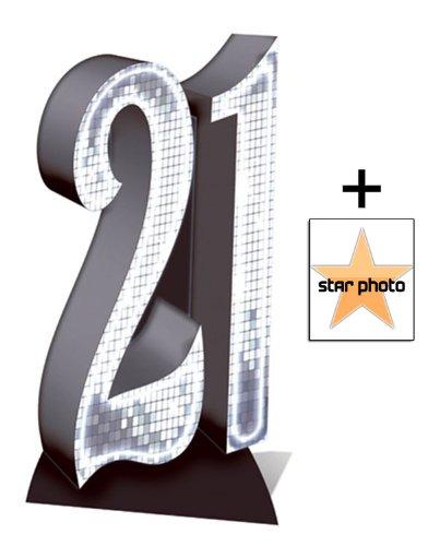 Paquete de cumpleaños - número 21 de cartón/8 x 10 - incluye ...