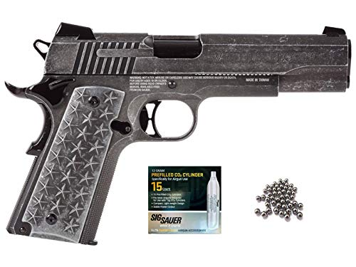- SIG Sauer 1911 BB Gun Air Pistol with CO2 12 Gram (15 Pack) Bundle (We The People)