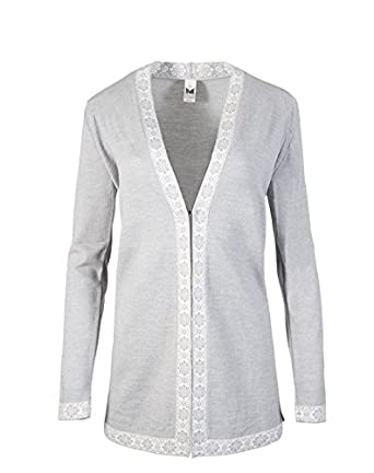 Dale of Norway Women's Alexandra Sweater Light Grey/Off-White Sweater LG  (Women's