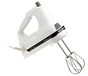 KitchenAid KHM9PWH 9-Speed Professional Hand Mixer, White