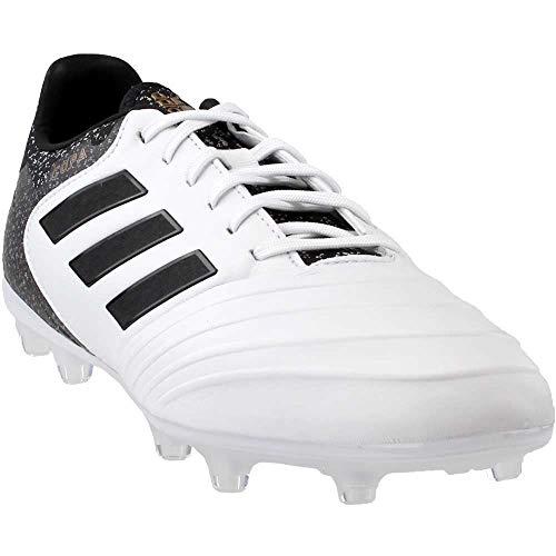 adidas Men's COPA 18.2 FG Soccer Shoe, White/core Black/Tactile Gold, 9 M US