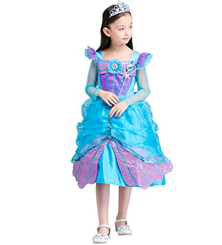 Cozyhut Princess Costume Halloween Party Dress Girls Cosplay Clothes (Cupcake Halloween Costume For Toddler)