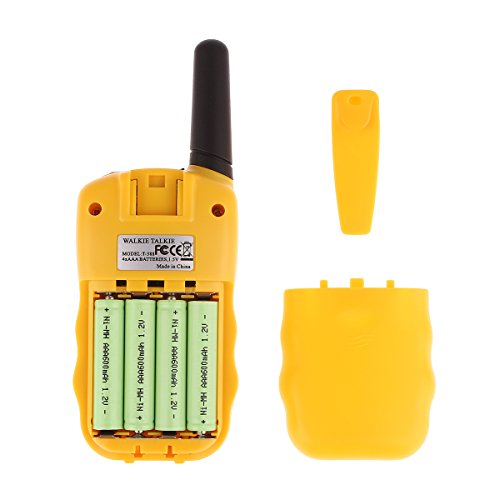 Swiftion Rechargeable Kids Walkie Talkies 22 Channel 0.5W FRS/GMRS 2 Way Radios with Charger and Rechargeable Batteries (Yellow, Pack of 2)