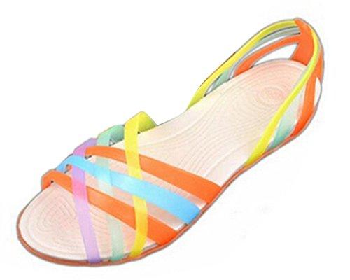 tom Verano Talón Naranja Jalea Playa Bandas Mine Zapatillas Mujeres Zapatos Planas Sandalias Sandalias Cruzan BxdxqR8Y