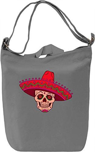 Mexican Sugar Skull Borsa Giornaliera Canvas Canvas Day Bag| 100% Premium Cotton Canvas| DTG Printing|
