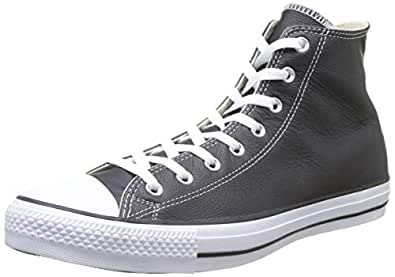 Converse Womens Chuck Taylor All Star Leather High Top Black Size: 3