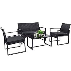 Tuoze 4 Pieces Patio Furniture Set