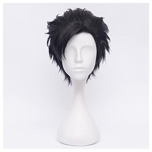 Male Anime Cosplay (COSPLAZA Short Black Men's Cosplay Wig Anime Heat Resistant Full)