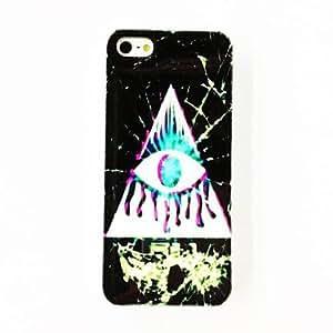 HC- Patrón Punk Triángulo de ojos de plástico duro caso para iPhone 4/4S , Multicolor