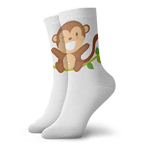 YUANSHAN Socks Cute Monkey Baby Women & Men Socks Soccer Sock Sport Tube Stockings Length 11.8Inch]()